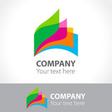 Colorful leaves of a book, logo template. Vector illustration Royalty Free Stock Photo