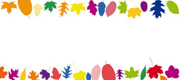 Colorful leaves in different colors Stock Photography