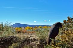 Mountain in Galisteo New Mexico. Colorful leaves in the fall in Galisteo New Mexico USA stock photos