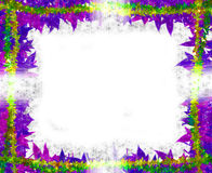 Colorful Leaves [maple] Border frame on white Royalty Free Stock Image