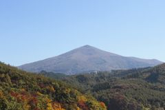 Colorful  leaves and Mt.Himekami Stock Photography