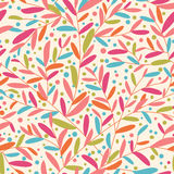 Colorful leaves seamless pattern Stock Images