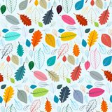 Colorful Leaves Seamless Pattern for Cover Prints and Designs. Colorful Leaves Seamless Pattern Suitable for Cover Prints and Designs - Vector Stock Illustration