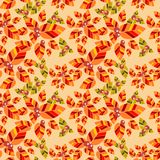 Colorful leaves seamless pattern vector. Royalty Free Stock Images
