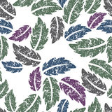 Colorful leaves - seamless vector background. Vector illustration Royalty Free Stock Image