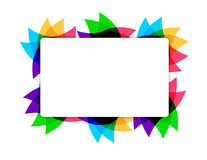 Colorful leaves text frame illustration Stock Photo