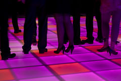 Colorful led dance floor Royalty Free Stock Photos