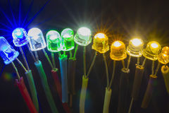 Colorful led lights Royalty Free Stock Images
