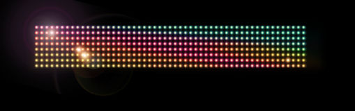 Colorful LED mesh royalty free stock photography