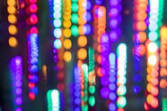 Colorful Christmas Lights Motion Blur Bokeh Background royalty free stock photos