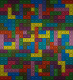 Colorful Lego block. seamless Royalty Free Stock Image