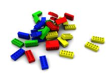 Colorful lego blocks Stock Images