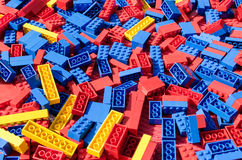 Colorful lego bricks background Royalty Free Stock Photography