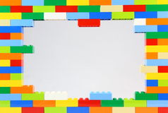 Colorful Lego Frame. A colorful frame of Lego bricks royalty free stock images