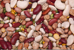 Colorful Legume (bean) Background Stock Image