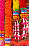 Colorful  Lei. The colorful flower garland made of plastic Royalty Free Stock Photos