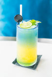 Colorful lemon mocktail Royalty Free Stock Image