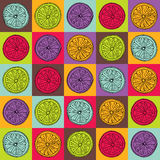 Colorful lemon pattern Royalty Free Stock Photos