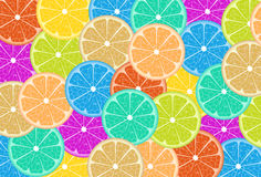 Colorful lemon slices Royalty Free Stock Photo