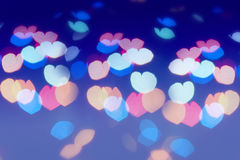Colorful  lens flare in the shape of heart Stock Photos