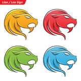 Colorful Leo Zodiac Star Signs Sketch Stock Photography