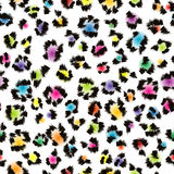 Colorful leopard fur background Royalty Free Stock Photo