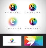 Colorful Letter Logo Design Stock Images