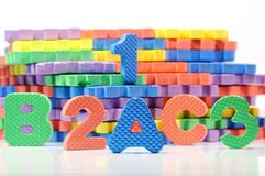 Colorful letter mat Stock Photos