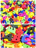 Learning color letters spelling child. Colorful letter spelling preschool children teach learn spell fun educational spelling words school background abc stock photo