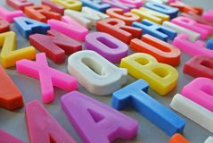 Colorful letter texture Stock Photos
