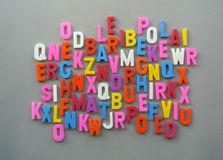 Colorful letter texture Royalty Free Stock Photography