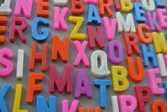 Colorful letter texture Stock Photography