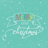 Colorful lettering Christmas greeting card Royalty Free Stock Photography
