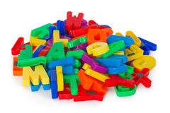 Colorful letters Stock Photography