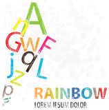 Colorful letters. In the form of a rainbow Stock Image