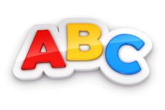Colorful letters ABC on white background. With clipping path Stock Image