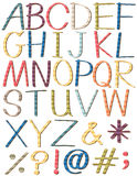 Colorful letters of the alphabet Stock Images