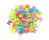 Colorful letters of alphabet jigsaw puzzle Stock Photo