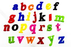 Colorful letters alphabet learning fun spelling stock image