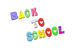 Colorful letters with back to school stock image