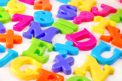 Colorful letters background Royalty Free Stock Photo