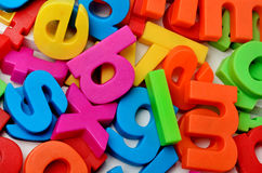 Colorful letters on background Royalty Free Stock Image