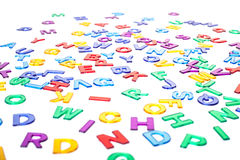 Colorful letters background texture Stock Photos