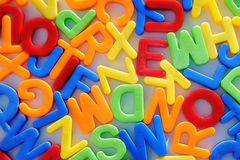 Colorful letters. Childhood education teaching Stock Image