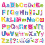 Colorful letters collection Royalty Free Stock Photos