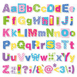 Colorful letters collection Stock Images