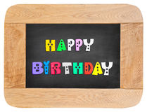 Colorful letters with happy birthday Stock Images