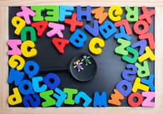 Colorful Letters made of wood royalty free stock image