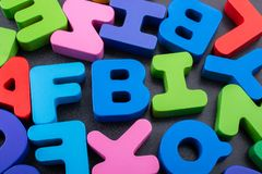 Colorful Letters made of wood make FBI royalty free stock image
