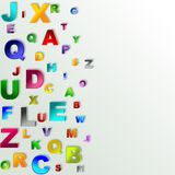 Alphabet abstract background Royalty Free Stock Photography